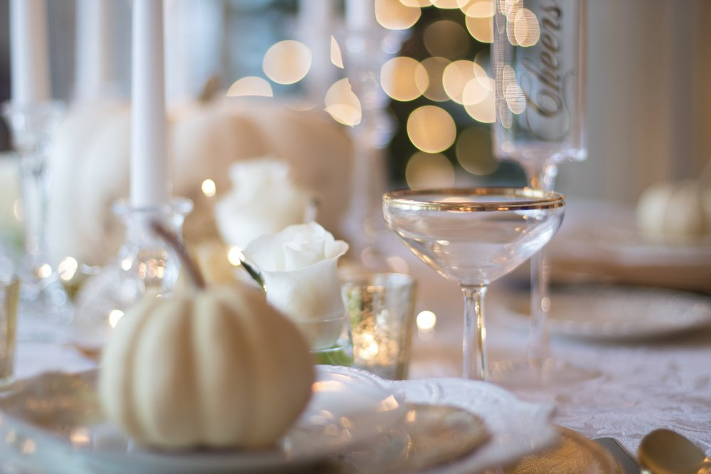 Fall Event With White & Gold Table Decor