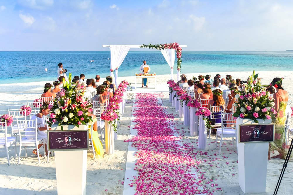 Pink & Rosie Wedding Ceremony Decor