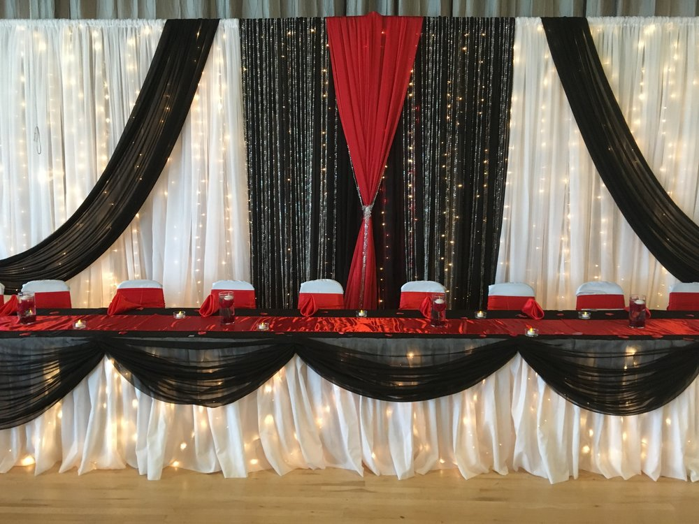 Red & Black Elegant Wedding Reception