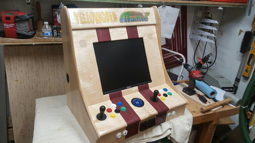Jason's arcade, ready to be shipped out to California.