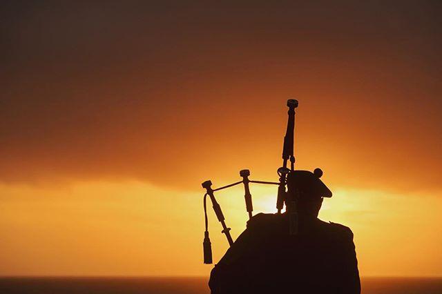 A Bagpiper serenading guests just before sunset at The Ritz-Carlton, Half Moon Bay. . ... ……… #RCMemories