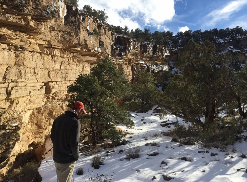 Cam wanders through Upper Grand Wash on a chill winter day, post-sleet storm.