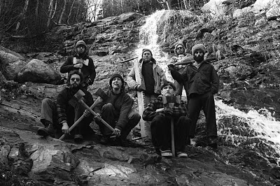 Part of the AMC Trail Crew in 1976. These are the men with whom I built trails.