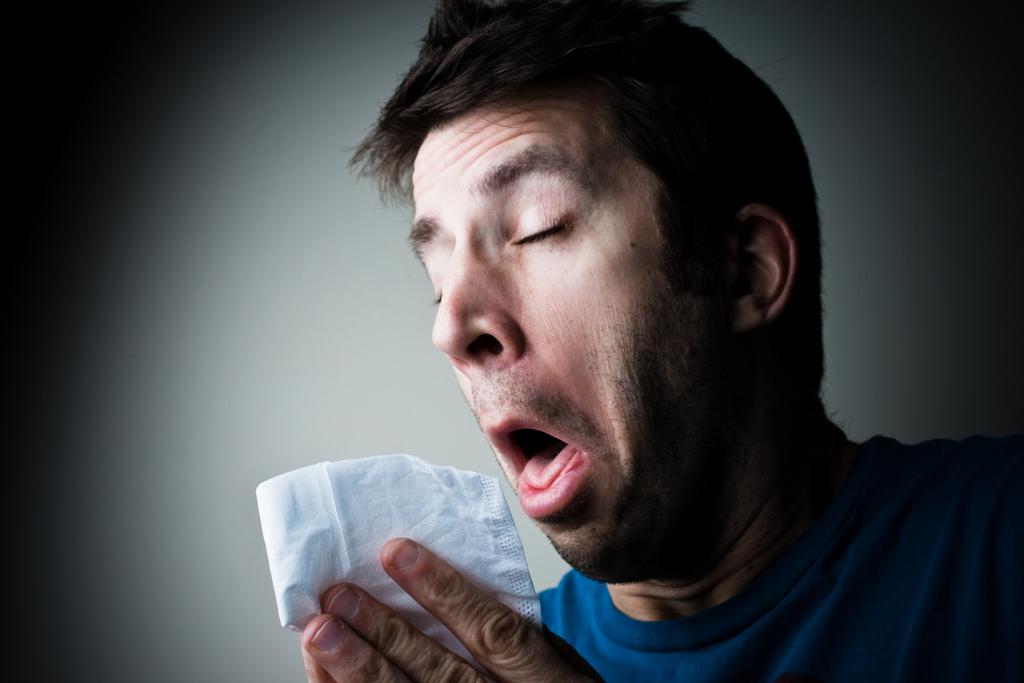 man-sneeze