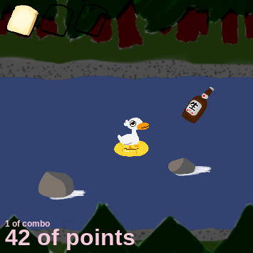 LAZY RIVER - I MADE ITlazy river is a frantic and fast-paced endless runner built in Phaser. Controlling a duck, players must avoid rocks, drink beers, bounce a beach ball, and dodge sniper fire to get a high score. Designed to be extremely stressful, but manageable.