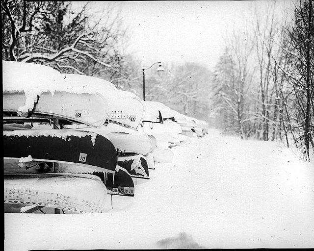 Canoes.  8x10  #orthochromatic #winter #canoes #largeformat #largeformatphotography #minnesota #Minneapolis #directpositive #snowstorm #shootfilmunder1000 #iso2 #photography #analog #analogue #intrepidcamera #ilfordphoto