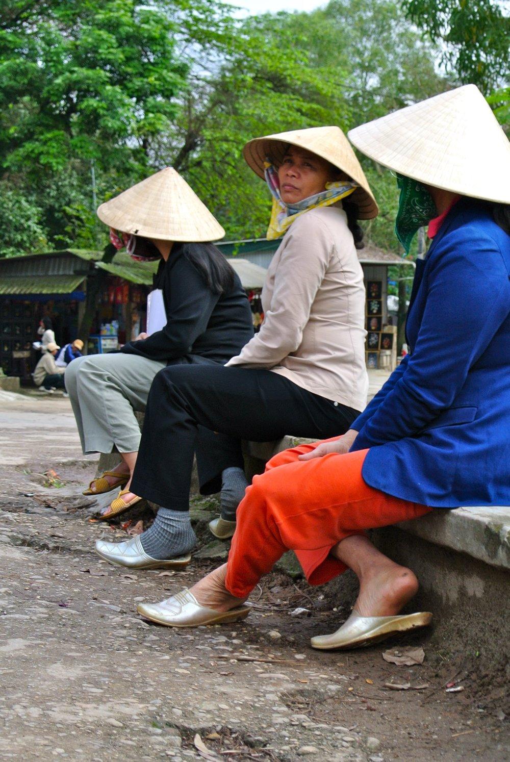 Vietnamese Women in Rice Hats