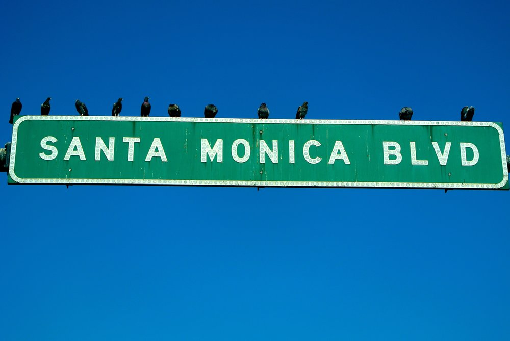 Santa Monica Boulevard Sign