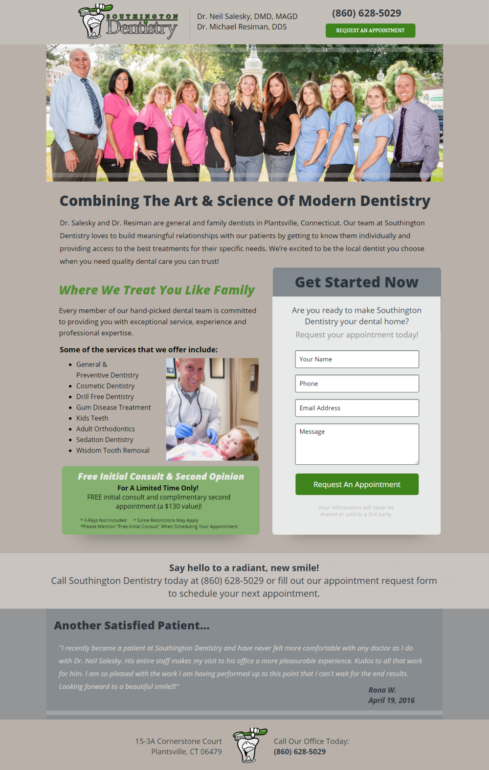 Full Service Dentistry Landing Page