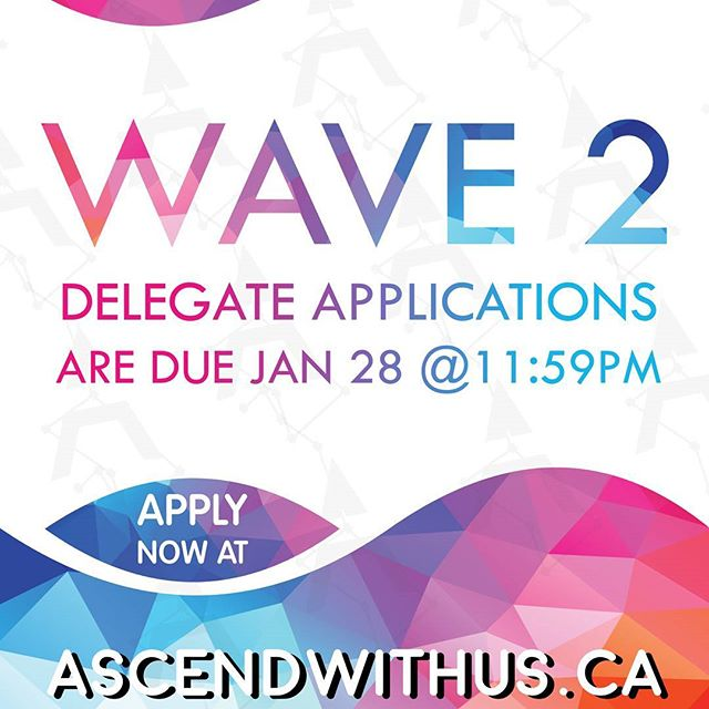 Welcome back to Winter Semester!! Wave 2 delegate applications are open, and due January 28th!! Don't miss out on this leadership experience! Link in bio.  #ascendwithus #ascend2017 #studentleadership #development #studentled