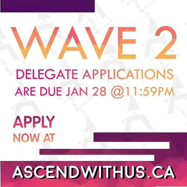 ONE DAY LEFT for WAVE 2 DELEGATE APPLICATIONS. Link in bio. Take a step toward being a better leader, and making our future a more understanding one.  Don't miss out. Come #Ascendwithus.