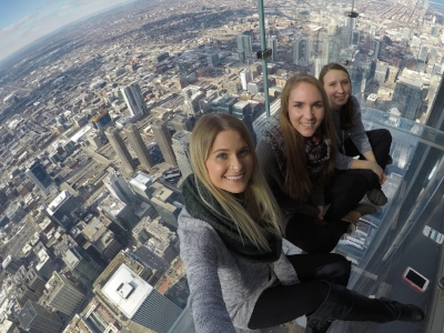 SPRL research assistants Chandler Benney, Kandice Olson, and Cassity Haverkamp exploring Chicago while at NASP!