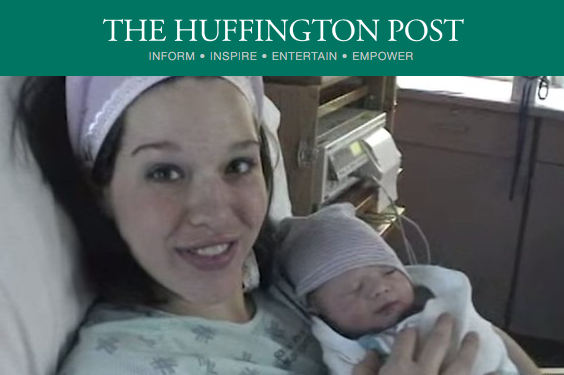 here she is ON the HUFFINGTON POST