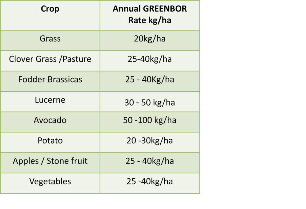 Greenbor Application table.png