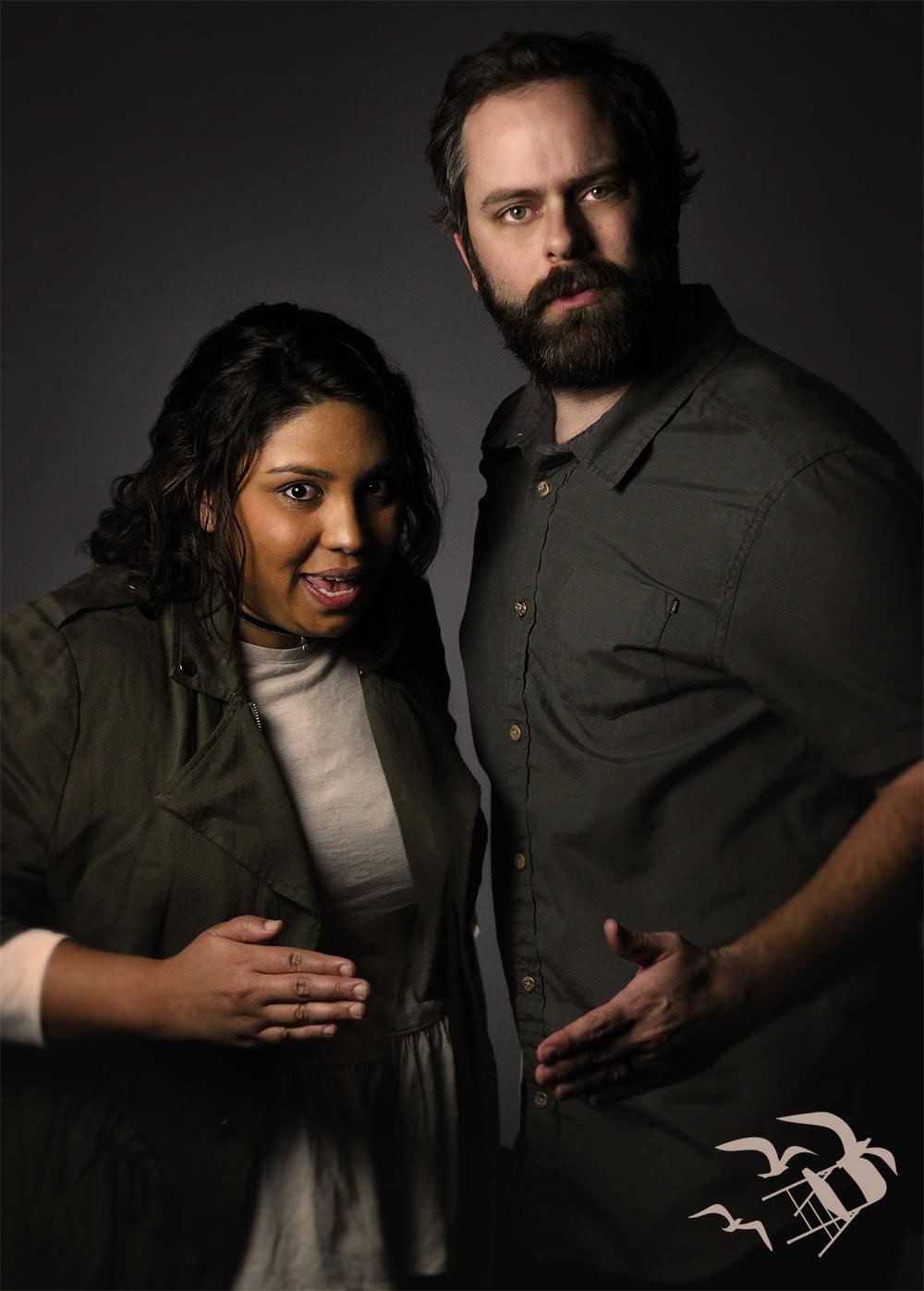 Our robotic Homegrown leaders: Salma Soliman & Ryan Suffridge.