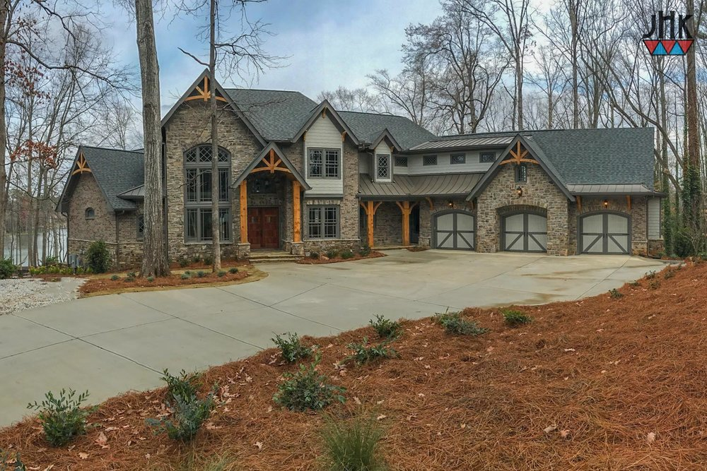 Timberland Lodge Lake Home | Custom Home Designs By Jim Klippel