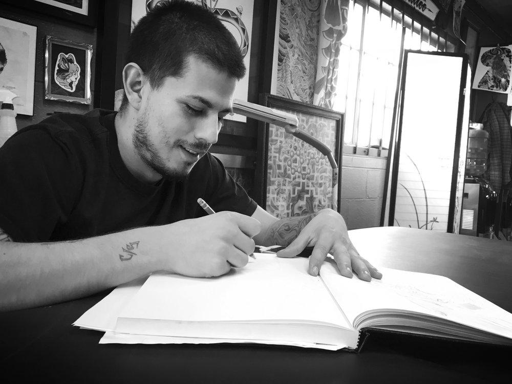 Jorge Perez. Tattooer at Scrimshaw Tattoo, Fort Collins, CO 80524
