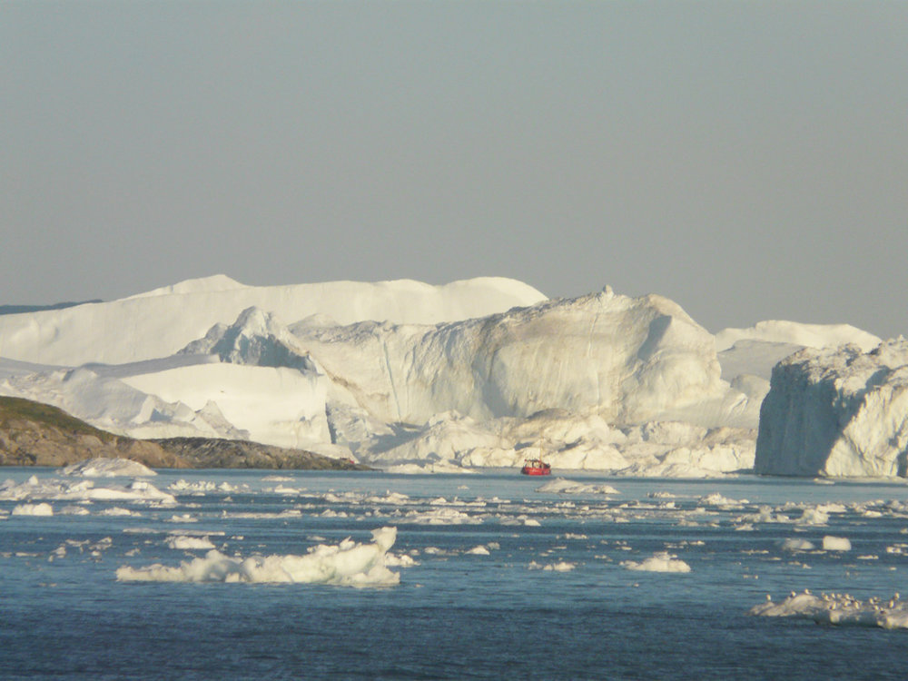 the massive icebergs of Disko Bay