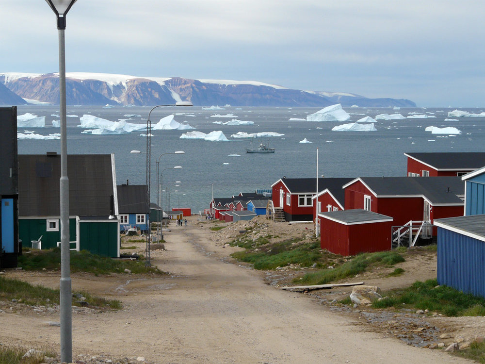 the rough-and-tumble town of Qaanaaq, a modern-day frontier outpost