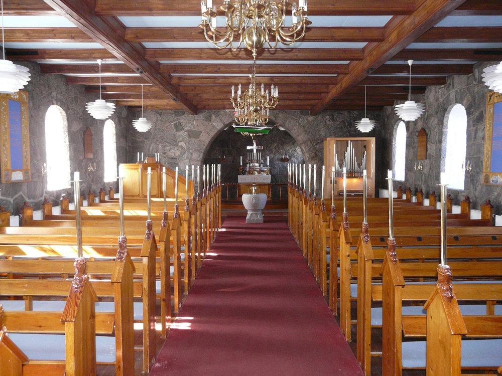 inside Uummannaq Church