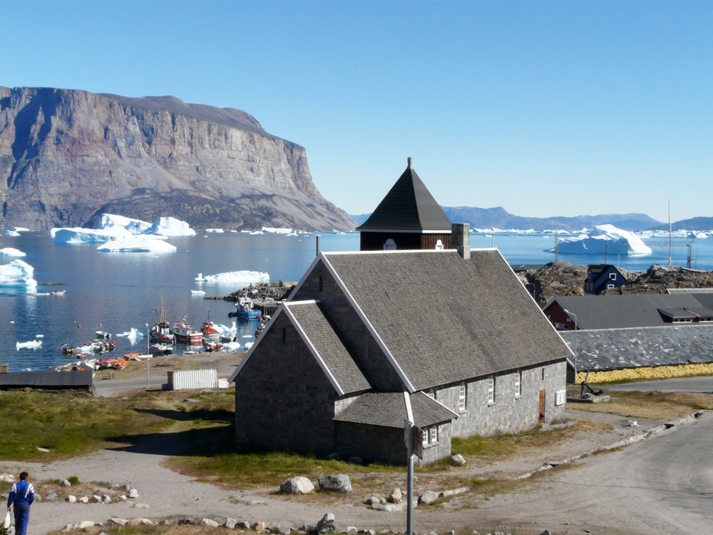 Uummannaq Church, the only stone church in Greenland