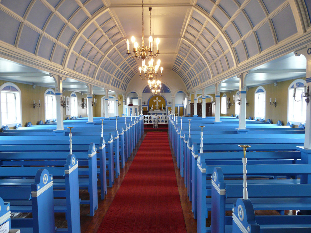 inside Narsaq Church