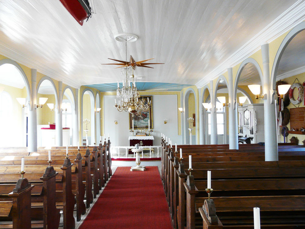 inside the Church of Our Saviour