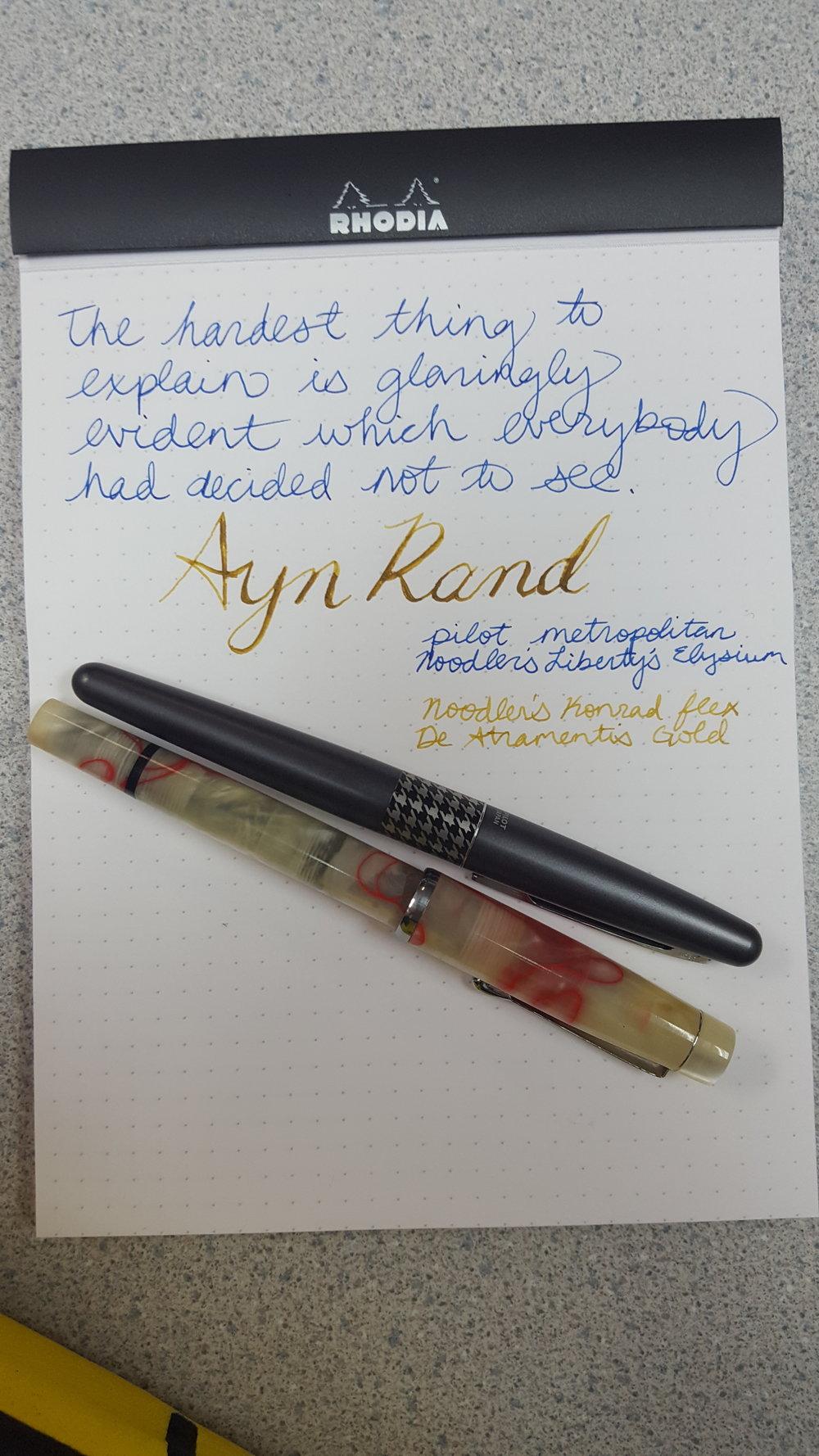 Goulet Pens, Ayn Rand