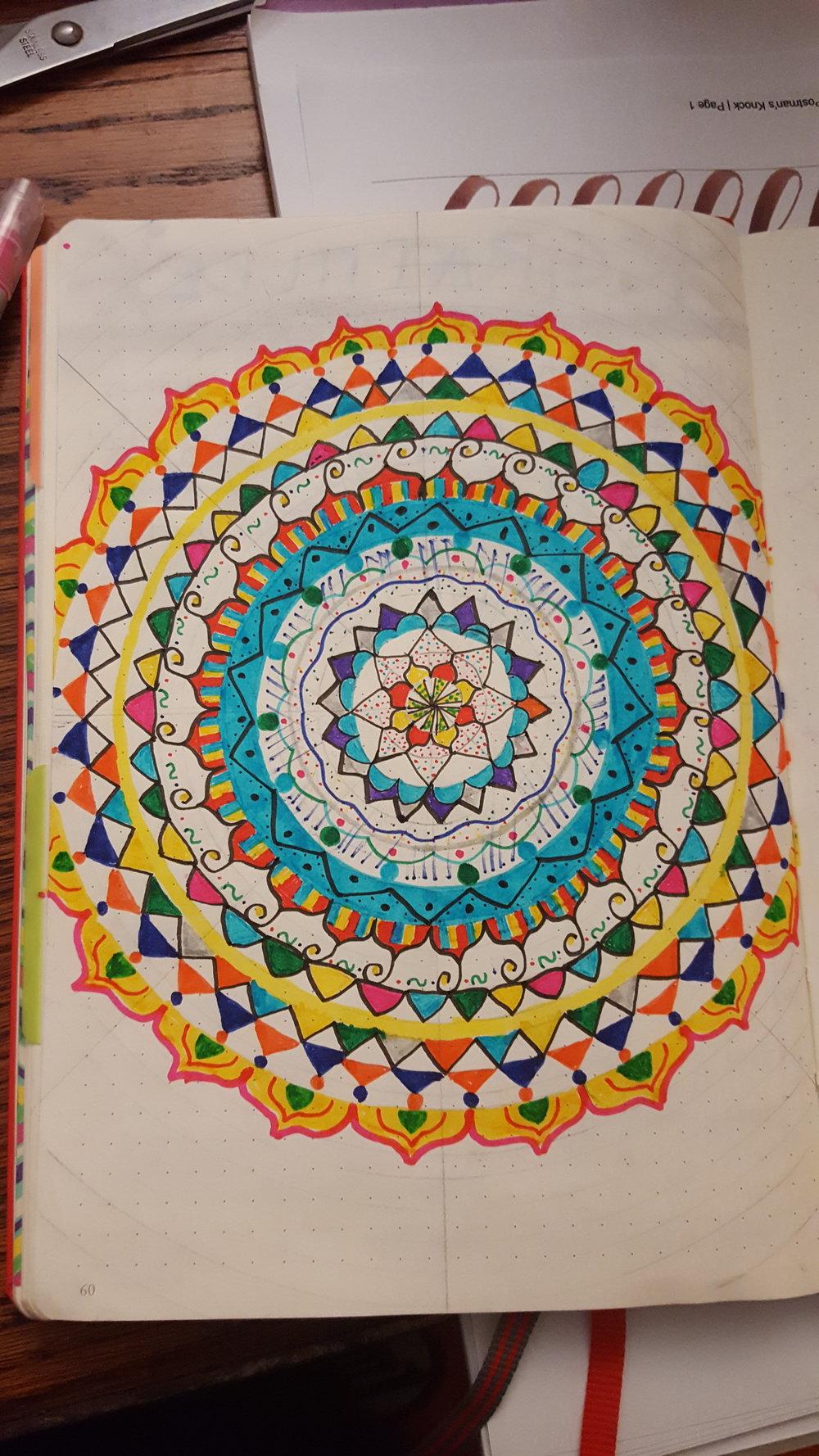 December Mood Mandala