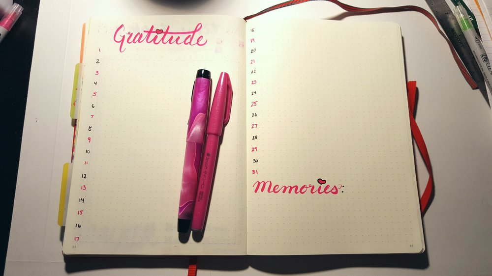 Virgin Gratitude Spread - January