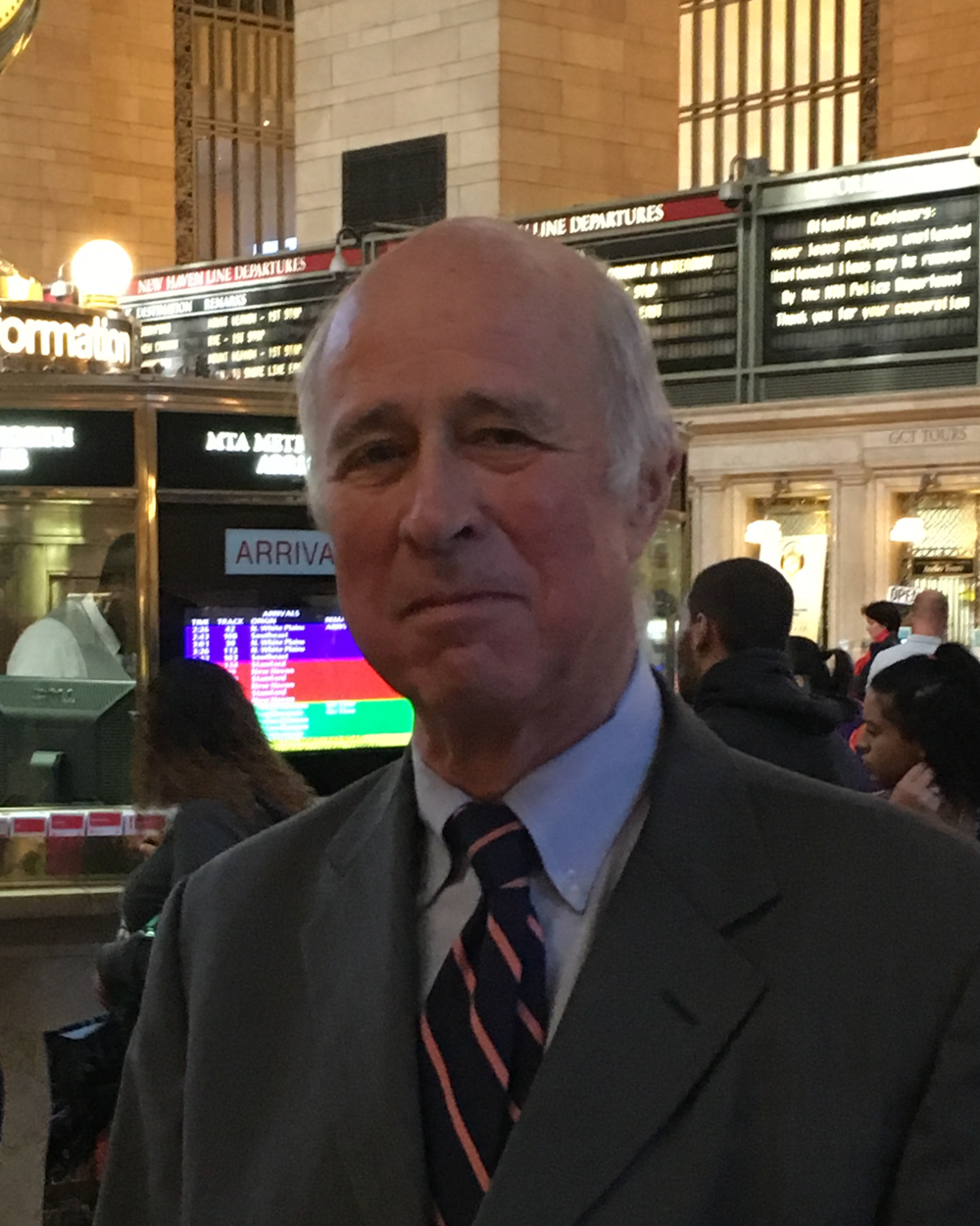 Kent Barwick at Grand Central Terminal, New York City