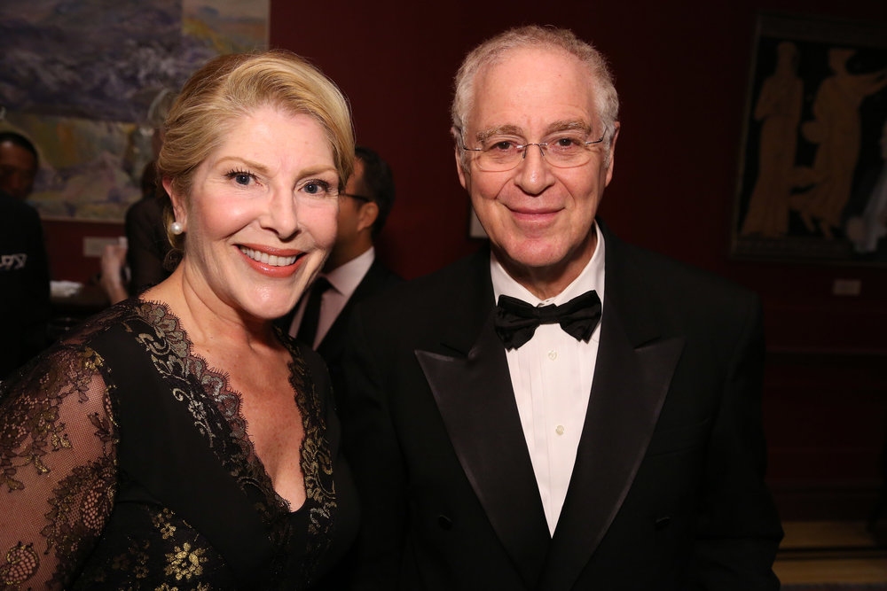 Michelle Larsen and Ron Chernow