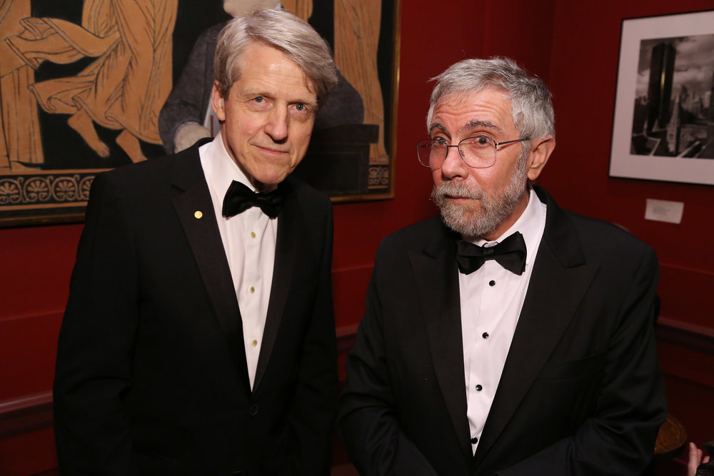 Robert Shiller and Paul Krugman
