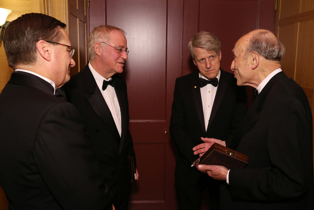 Fred Larsen, Ron Chernow, Robert Shiller and Michael Sovern