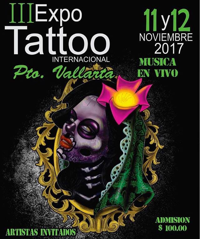 Para mí un honor ser parte del jurado de este evento @expotattoo_puertovallarta !! Gracias por la invitación y por esconder me diseño para representar esta linda expo. DIOS bendiga a #Mexico todo #latinoamerica  en estos momentos