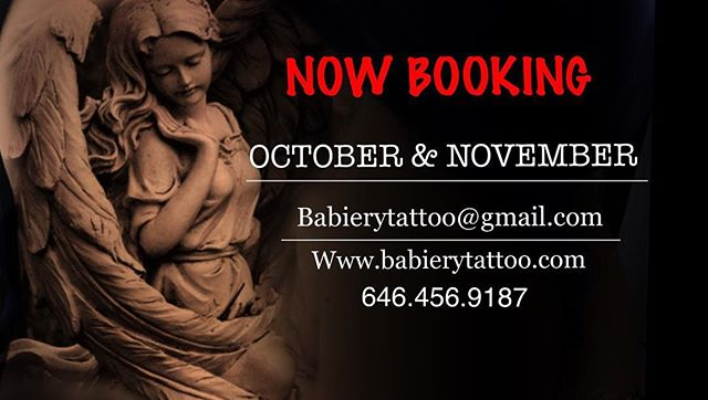 #nowbooking for late October and November 📩babierytattoo@gmail.com