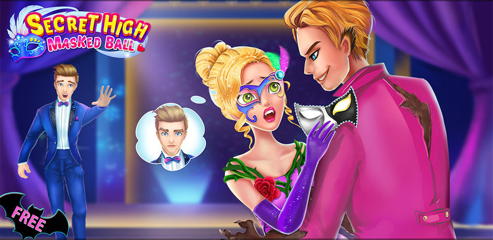 Secret High 2: Masked Ball  You play the coolest new vampire girl in this game. You can write the story of these high school sweethearts with mysterious secrets.