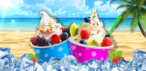 Ice Frozen Yogurt Maker  When yogurt meets with ice, what will happen???