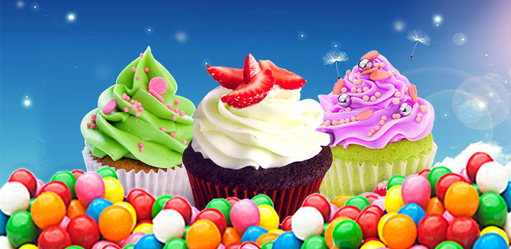 Cupcake Maker - Free Cooking!  Bake and decorate cute cupcakes by candies, cream and fruits! Have a bite!