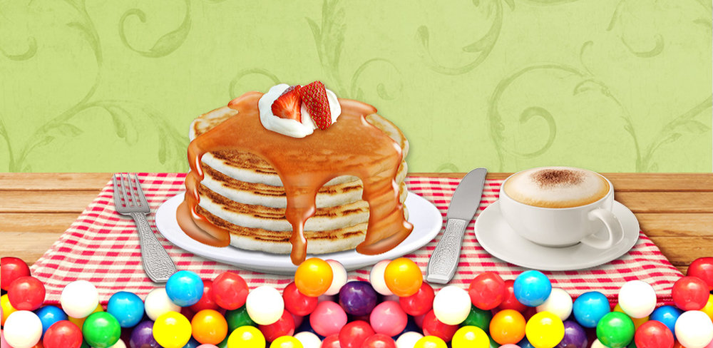 Pancake Maker!  Learn to make simple & yummy pancake in the kitchen! Be a super chef!