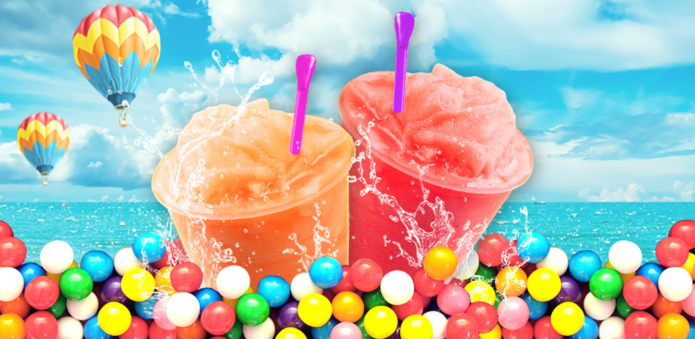 Slushy Mania! - Free Cooking  Cool drink for a hot summer! Mix ice, juice and blend colors together and taste!