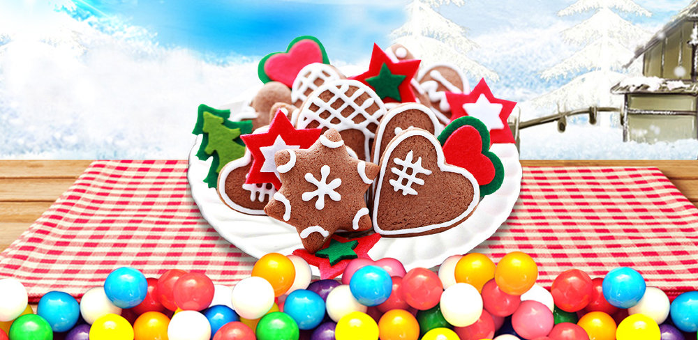 Christmas Cookie: Crazy Bakery  The xmas holiday is almost here. Time to start thinking about the best xmas food to make for Santa's snack!