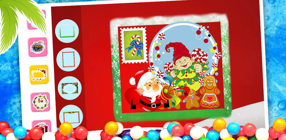 Christmas Card Maker - Free!  Surprise your friends with the gift of a DIY holiday card! Christmas Card Maker is a fun and free holiday painting kid that lets kids design and share their very own Christmas cards.