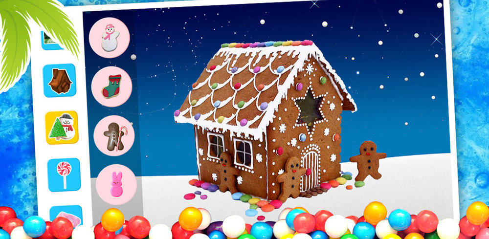 Gingerbread House Maker - Free!  Gingerbread House Maker is a clever DIY decoration and cooking game made for kids of all ages that lets you bake, shape, design and decorate your very own DIY gingerbread food house!