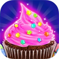 Rainbow Glitter Desserts Maker  Wow! I got a new message. What's this? Glow in the dark party? It looks pretty cool! The party will start tonight! I don't want to miss it. Let's go! Here we come! OMG! This party is so cool! There are so many glow things I never seen before!