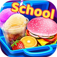 School Lunch Maker!  There are so many food options for this special lunch time! Such as vanilla strawberry ice cream cake, pizza, corn dog, burger and the most popular ice cream soda!  Join us to cook, decorate and eat these yummy foods! Come on! Let's get start right now!