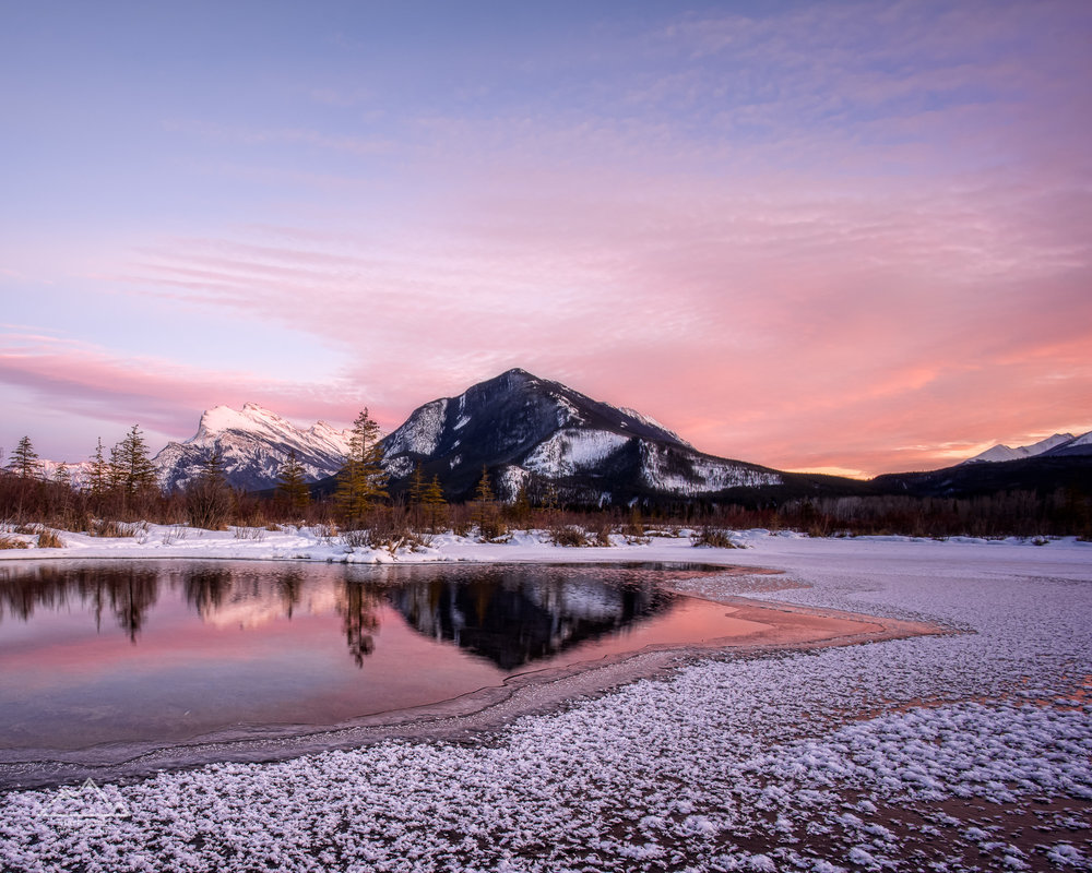 Vermilion Lakes Sunset