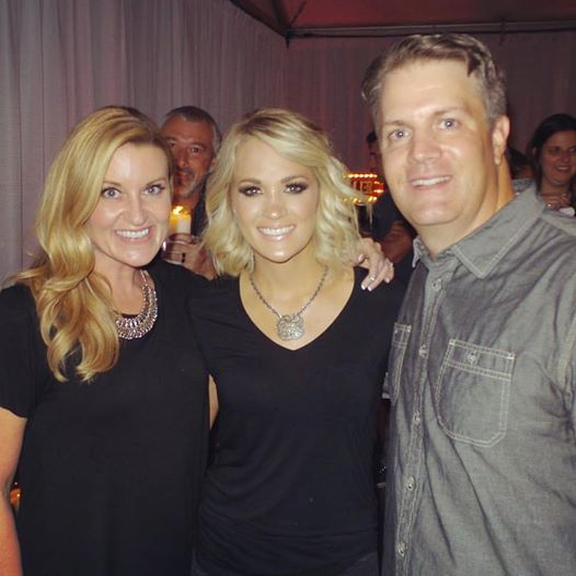 Kelly, Carrie Underwood and Paul (Kelly's husband)