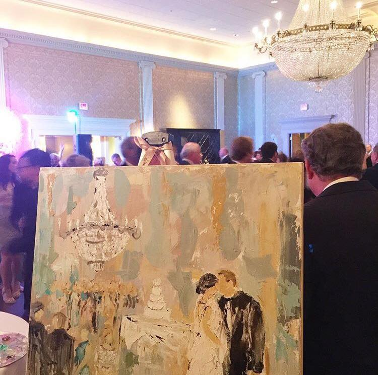 Deann's live event painting