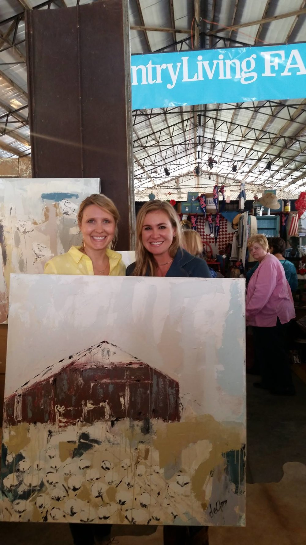 Deann and I with my custom work she painted.